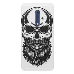 Skull with the beard  design,  Nokia 5  printed back cover