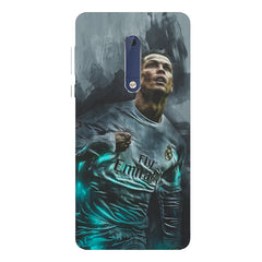 Oil painted ronaldo  design,  Nokia 5  printed back cover