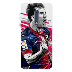 Messi illustration design,  Nokia 5  printed back cover