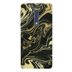 Golden black marble design Nokia 5  printed back cover