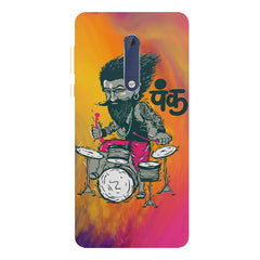 Punk baba drumroll  design,   Nokia 7 plus hard plastic printed back cover.