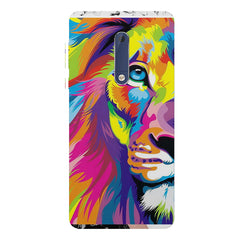 Colourfully Painted Lion design,  Nokia 5  printed back cover
