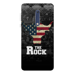The Rock  design,   Nokia 7 plus hard plastic printed back cover.