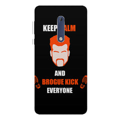 Keep calm and Brougue Kick everyone  design,   Nokia 7 plus hard plastic printed back cover.