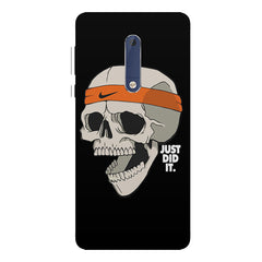 Skull Funny Just Did It !  design,  Nokia 5  printed back cover
