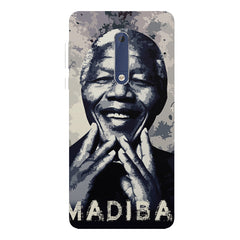 Nelson Mandela Madiba Abstract Art design,   Nokia 7 plus hard plastic printed back cover.