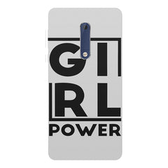 Girl power deisgn Nokia 5  printed back cover