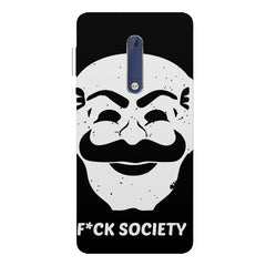 Fuck society design Nokia 5  printed back cover