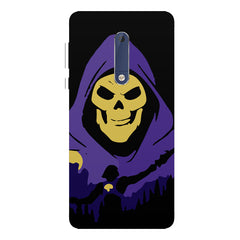 Evil looking skull design Nokia 5  printed back cover