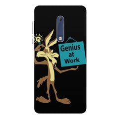 Genius at work design Nokia 5  printed back cover