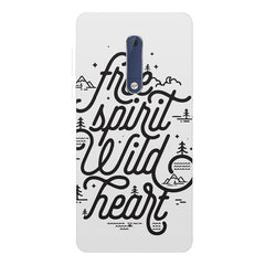 I am a free spirit design Nokia 5  printed back cover