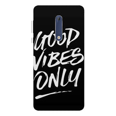 Good vibes only design  Nokia 7 plus hard plastic printed back cover.