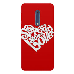 Spread some love design Nokia 5  printed back cover