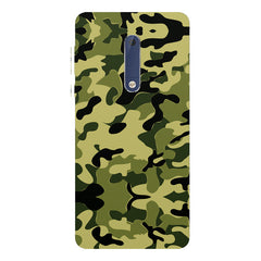 Camoflauge army color design Nokia 5  printed back cover