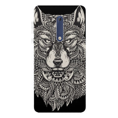 Fox illustration design Nokia 5  printed back cover
