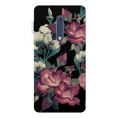 Abstract colorful flower design Nokia 5  printed back cover