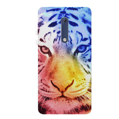 Colourful Tiger Design Nokia 6.1 Plus (Nokia X6) hard plastic all side printed back cover.
