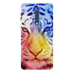 Colourful Tiger Design Nokia 7 plus hard plastic printed back cover.