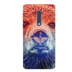 Zoomed Bear Design  Nokia 6.1 Plus (Nokia X6) hard plastic all side printed back cover.