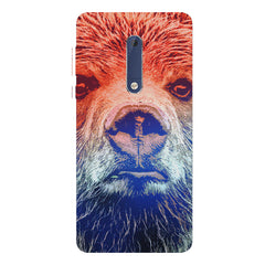 Zoomed Bear Design  Nokia 7 plus hard plastic printed back cover.