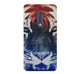Pixel Tiger Design Nokia 6.1 Plus (Nokia X6) hard plastic all side printed back cover.