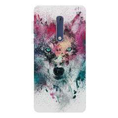 Splashed colours Wolf Design Nokia 7 plus hard plastic printed back cover.