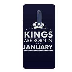 Kings are born in January design all side printed hard back cover by Motivate box Nokia 6.1 Plus (Nokia X6) hard plastic all side printed back cover.