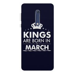 Kings are born in March design Nokia 7 plus all side printed hard back cover by Motivate box Nokia 7 plus hard plastic printed back cover.
