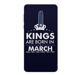 Kings are born in March design all side printed hard back cover by Motivate box Nokia 6.1 Plus (Nokia X6) hard plastic all side printed back cover.
