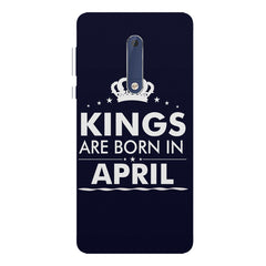 Kings are born in April design Nokia 7 plus all side printed hard back cover by Motivate box Nokia 7 plus hard plastic printed back cover.