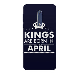 Kings are born in April design all side printed hard back cover by Motivate box Nokia 6.1 Plus (Nokia X6) hard plastic all side printed back cover.