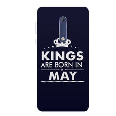 Kings are born in May design all side printed hard back cover by Motivate box Nokia 6.1 Plus (Nokia X6) hard plastic all side printed back cover.