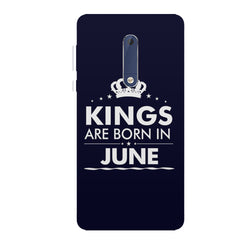 Kings are born in June design all side printed hard back cover by Motivate box Nokia 6.1 Plus (Nokia X6) hard plastic all side printed back cover.