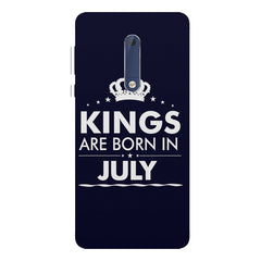 Kings are born in July design Nokia 7 plus all side printed hard back cover by Motivate box Nokia 7 plus hard plastic printed back cover.
