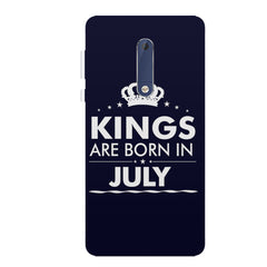 Kings are born in July design all side printed hard back cover by Motivate box Nokia 6.1 Plus (Nokia X6) hard plastic all side printed back cover.