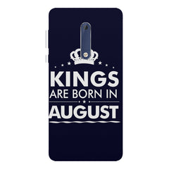 Kings are born in August design Nokia 7 plus all side printed hard back cover by Motivate box Nokia 7 plus hard plastic printed back cover.