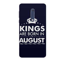 Kings are born in August design all side printed hard back cover by Motivate box Nokia 6.1 Plus (Nokia X6) hard plastic all side printed back cover.