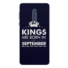 Kings are born in September design Nokia 7 plus all side printed hard back cover by Motivate box Nokia 7 plus hard plastic printed back cover.