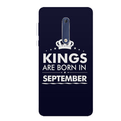 Kings are born in September design all side printed hard back cover by Motivate box Nokia 6.1 Plus (Nokia X6) hard plastic all side printed back cover.
