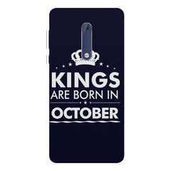Kings are born in October design Nokia 7 plus all side printed hard back cover by Motivate box Nokia 7 plus hard plastic printed back cover.