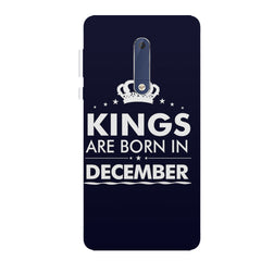 Kings are born in December design all side printed hard back cover by Motivate box Nokia 6.1 Plus (Nokia X6) hard plastic all side printed back cover.