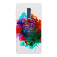 Colourful parrot design Nokia 7 plus hard plastic printed back cover.
