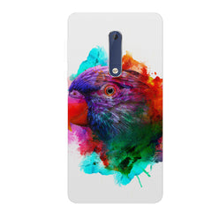 Colourful parrot design Nokia 6.1 Plus (Nokia X6) hard plastic all side printed back cover.