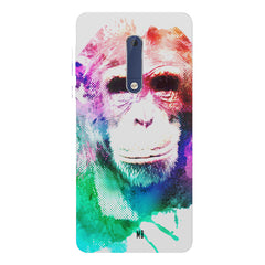 Colourful Monkey portrait Nokia 7 plus hard plastic printed back cover.