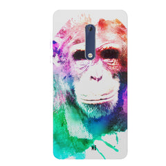 Colourful Monkey portrait Nokia 6.1 Plus (Nokia X6) hard plastic all side printed back cover.