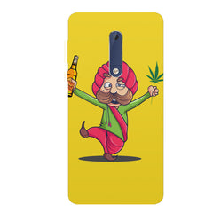 Sardar dancing with Beer and Marijuana  Nokia 6.1 Plus (Nokia X6) hard plastic all side printed back cover.