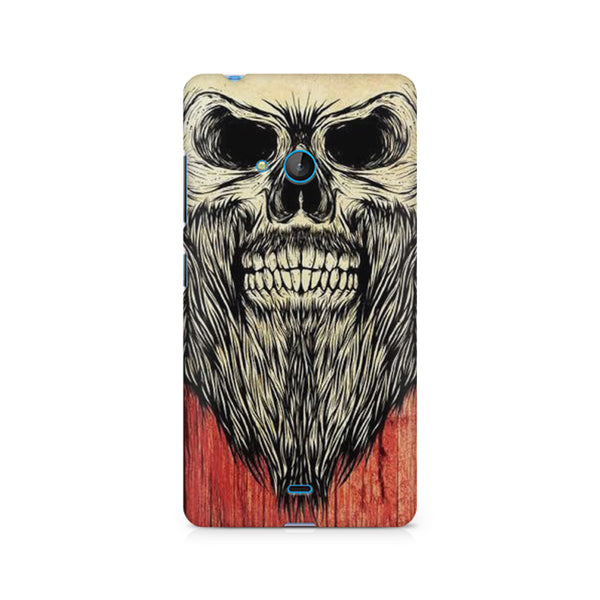 Beard Skeleton Nokia Lumia 540 printed back cover