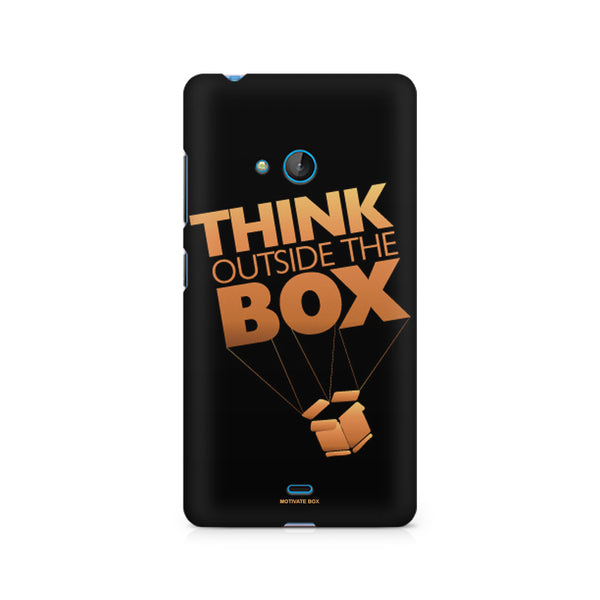 Think Outside The Box- Entrepreneur Lines design, Nokia Lumia 540 printed back cover