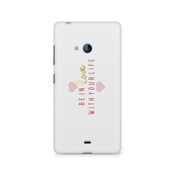 Be in love   design, Nokia Lumia 540 printed back cover