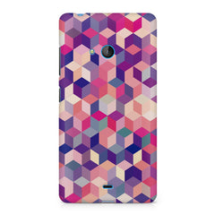 3D Colorful shapes Nokia Lumia 540 printed back cover